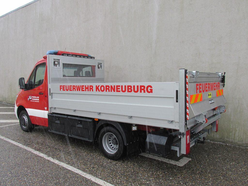 Versorgungsfahrzeug für die Freiwillige Feuerwehr Korneuburg von der Firma Keller GmbH aus Rückersdorf in Wien